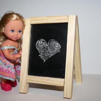 Меловой штендер для кукол.Табличка на стол.