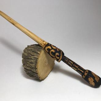 Шпилька деревянная для волос ′Копье′