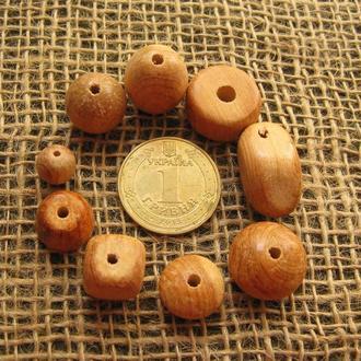 Бусины деревянные из можжевельника разной конфигурации. Стоимость каждой бусины указана в описании.