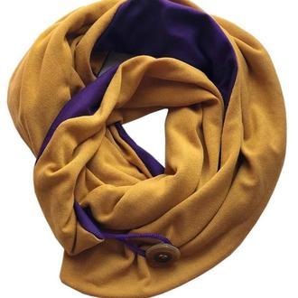 """Шарф-бактус """"Эдинбург"""", женский шарф, большой женский шарф,"""