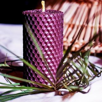 Цветная свеча из вощины для дома и декора, оригинальный подарок для родных