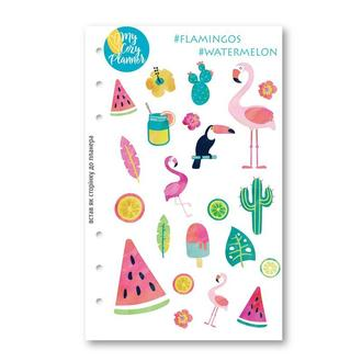 "Наліпки, наклейки, стикеры ""#Flamingo #Watermelon"""