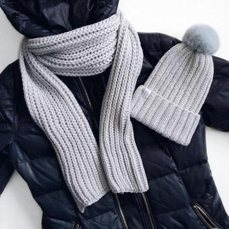 Комплект зимний, серый