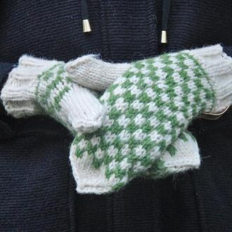В'язані рукавички  з натуральної вовни