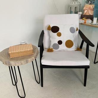 Декоративная стильная подушка Punchneedle