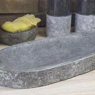 Тарелка из натурального камня для полотенца