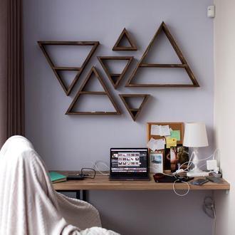 Настенные полки - горы | треугольники (Набор из 6 шт.)