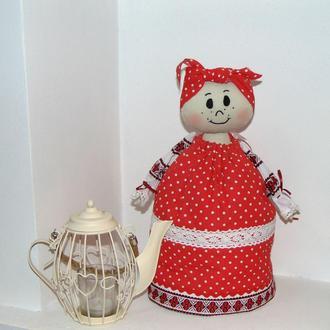 Баба-грелка - кукла на чайник в народном стиле