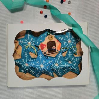 """Новогодний набор игрушек для ёлки из фетра """" Звёздочки """""""