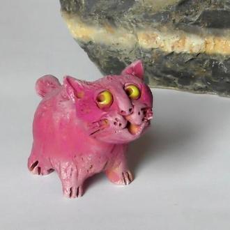 Фигурка кота розового кіт рожевий