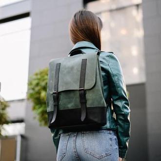 Удобный вместительный женский рюкзак из натуральной кожи для города (арт.507)