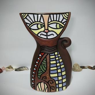 Ваза керамическая Кот