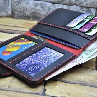 Кожаный вертикальный бумажник D05-0580