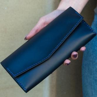 Женский кошелек- клатч из натуральной кожи