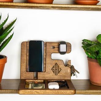 Корпоративный подарок, подставка для телефона, часов