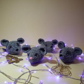 Мышка мышь мышонок плюшевый (маленький)