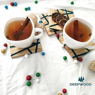 Дерев'яні підстаки під чашки, Подставки под горячее