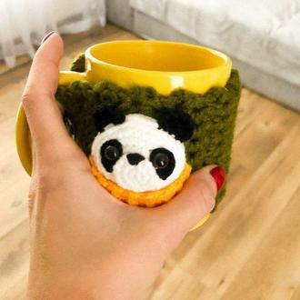"Чашка в чехле ""Панда"""