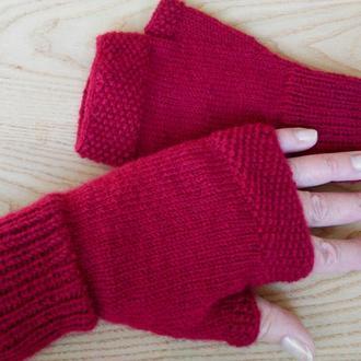 Вязаные митенки - перчатки без пальцев