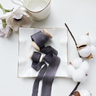Шелковые ленты для букета невесты, свадебных пригласительных.