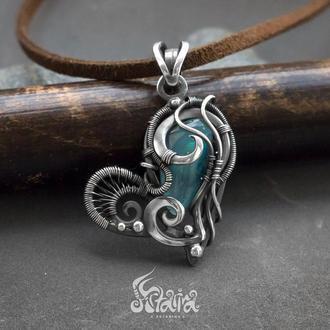 Подвеска сердце // Кулон любимой // Кулон из серебра // Эксклюзивный кулон // Artarina