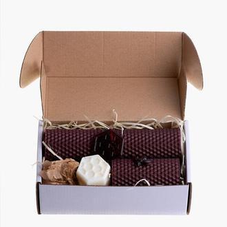 Набор для учителей, коллег,друзей,родных, натуральные свечи из вощины, мыло, подвеска для ключей