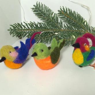 Іграшки на ялинку пташка ялинкові іграшки на прищіпці
