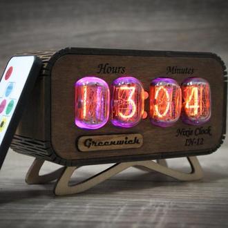 Уникальные часы ИН-12 в ретро стиле - Nixie clock