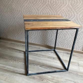 Стіл із епоксидної смоли . Лофт стол . Журнальный стол . Кофейный столик . Подарок