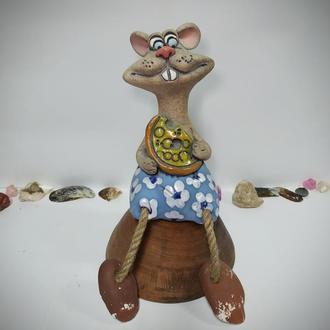 Статуэтка копилка керамическая Мышонок