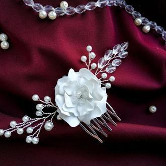 Гребень в прическу, украшение для волос, весільна прикраса