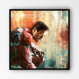 """Постер в раме на ПВХ 3 мм. """"Iron Man / Железный Человек"""" #2"""