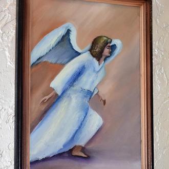 Ангел вперед,живопись, размер 30х40см