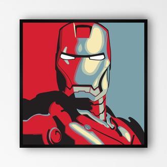 """Постер в раме на ПВХ 3 мм. """"Iron Man / Железный Человек"""" #3"""