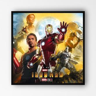 """Постер в раме на ПВХ 3 мм. """"Iron Man / Железный Человек"""" #4"""