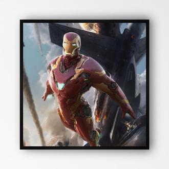 """Постер в раме на ПВХ 3 мм. """"Iron Man / Железный Человек"""" #9"""