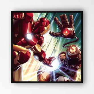 """Постер в раме на ПВХ 3 мм. """"Iron Man / Железный Человек"""" #10"""