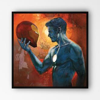 """Постер в раме на ПВХ 3 мм. """"Iron Man / Железный Человек"""" #11"""