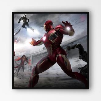 """Постер в раме на ПВХ 3 мм. """"Iron Man / Железный Человек"""" #15"""