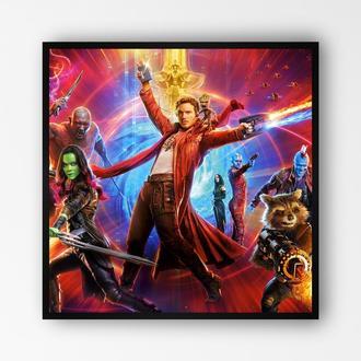 """Постер в раме на ПВХ 3 мм. """"Стражи Галактики / Guardians of the Galaxy"""" #2"""