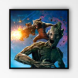 """Постер в раме на ПВХ 3 мм. """"Стражи Галактики / Guardians of the Galaxy"""" #4"""