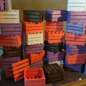 Ящики из дерева декоративные