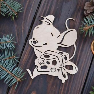 Деревянные Елочные игрушки мышки, елочные игрушки из дерева, деревянные игрушки на Новый год