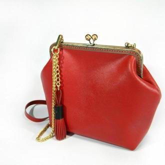 Кожаная сумка Red
