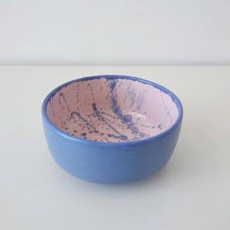 Пиала синяя с матовой глазурью