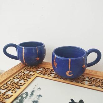 Набор чашек с золотой росписью