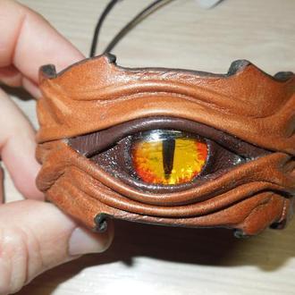 """Браслет """"Глаз Дракона"""" натуральная кожа."""