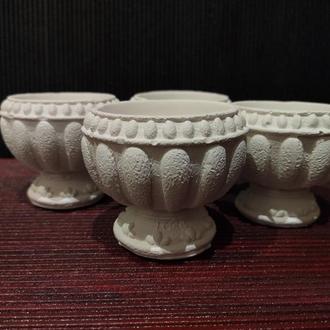 Оригинальное кашпо чаша в греческом стиле под роспись