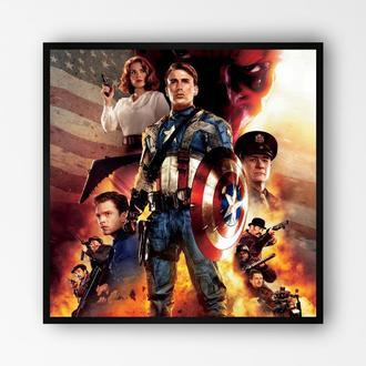 """Постер в рамке """"Captain America / Капитан Америка"""" #9"""