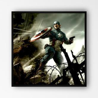 """Постер в рамке """"Captain America / Капитан Америка"""" #11"""